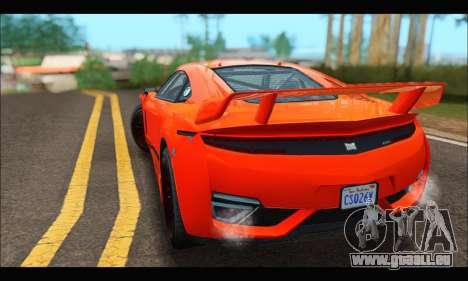 Dinka Jester Racecar (GTA V) pour GTA San Andreas vue arrière