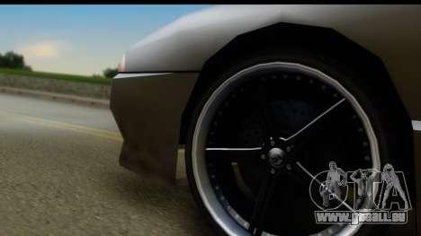 New Elegy Editons pour GTA San Andreas vue arrière