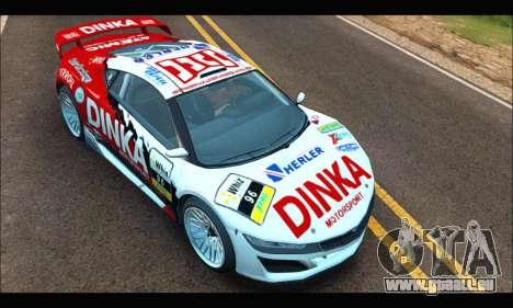 Dinka Jester Racecar (GTA V) (IVF) für GTA San Andreas Rückansicht