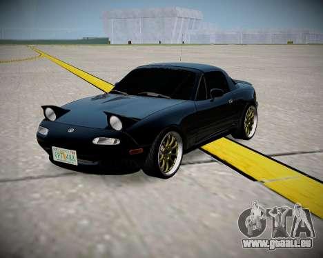 Mazda MX-5 JDM pour GTA San Andreas laissé vue
