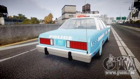 Ford Fairmont 1978 Police v1.1 pour GTA 4 Vue arrière de la gauche