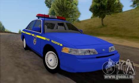 Ford Crown Victoria 1992 State Patrol für GTA San Andreas