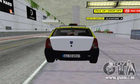 Dacia Logan Taxi pour GTA San Andreas vue arrière