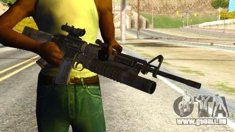 Assault Rifle from Global Ops: Commando Libya pour GTA San Andreas troisième écran