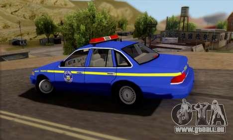 Ford Crown Victoria 1992 State Patrol für GTA San Andreas linke Ansicht