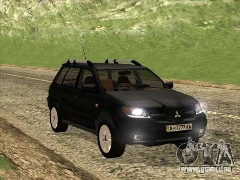 Mitsubishi Outlander pour GTA San Andreas vue intérieure
