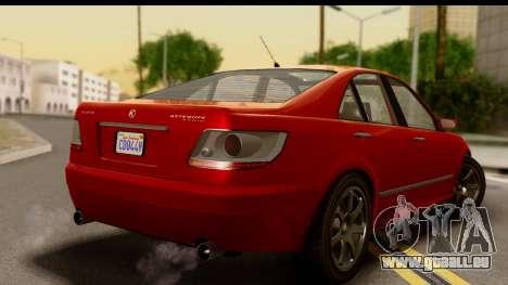 GTA 5 Karin Asterope für GTA San Andreas linke Ansicht