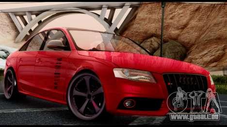 Audi S4 2010 Blacktop pour GTA San Andreas