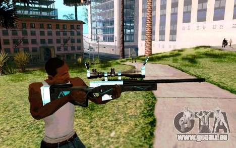 Blue Line Sniper pour GTA San Andreas troisième écran