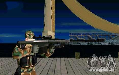 Barret M107 pour GTA San Andreas troisième écran