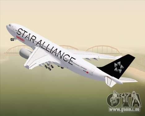 Airbus A330-200 SWISS (Star Alliance Livery) pour GTA San Andreas vue de dessus