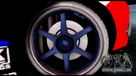 Toyota Corolla 2012 LOJACK Racing pour GTA San Andreas sur la vue arrière gauche