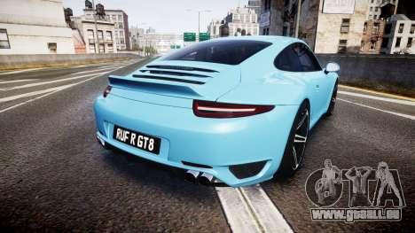 RUF RGT8 2014 pour GTA 4 Vue arrière de la gauche