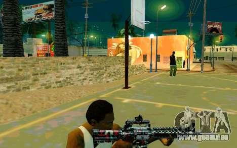 M4A1 (Looney) pour GTA San Andreas troisième écran