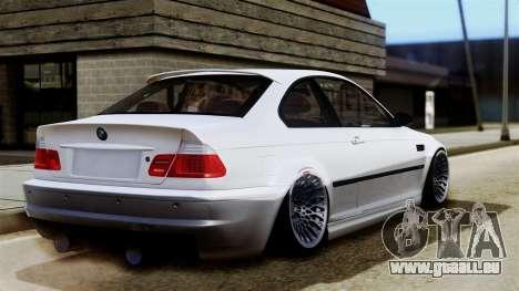 BMW M3 E46 Sport PG pour GTA San Andreas laissé vue