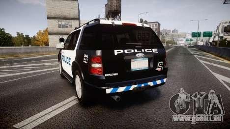 Ford Explorer 2008 Police [ELS] pour GTA 4 Vue arrière de la gauche