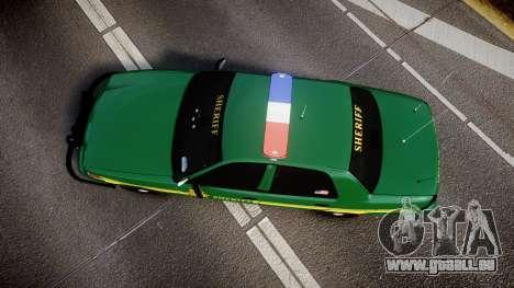 Ford Crown Victoria Sheriff [ELS] green pour GTA 4 est un droit