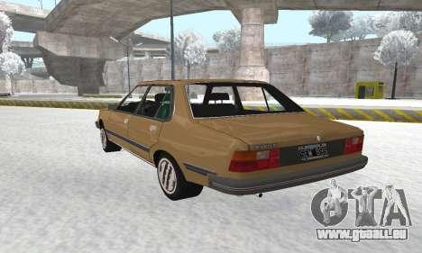 Renault 18 pour GTA San Andreas vue intérieure