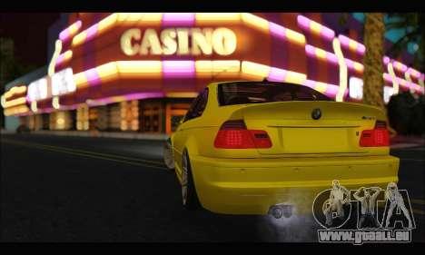 BMW M3 Coupe Tuned für GTA San Andreas rechten Ansicht