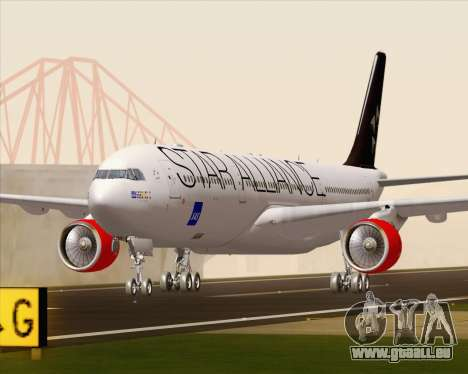 Airbus A330-300 SAS Star Alliance Livery für GTA San Andreas linke Ansicht