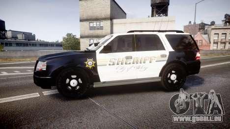 Ford Expedition 2010 Sheriff [ELS] pour GTA 4 est une gauche