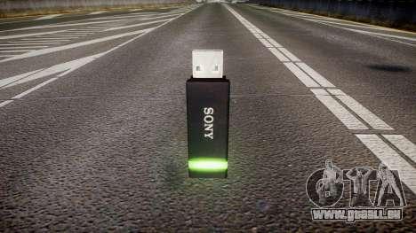 Lecteur flash USB Sony vert pour GTA 4 secondes d'écran