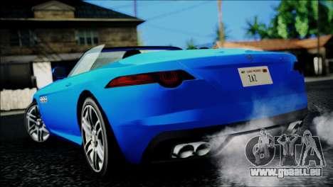 Benefactor Surano IVF pour GTA San Andreas laissé vue