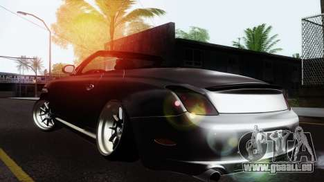 Lexus SC430 für GTA San Andreas zurück linke Ansicht