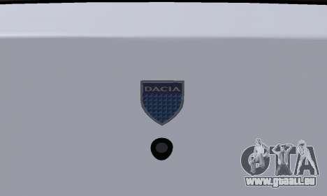 Dacia Logan Taxi pour GTA San Andreas vue de dessus