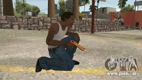 Orange Desert Eagle pour GTA San Andreas quatrième écran