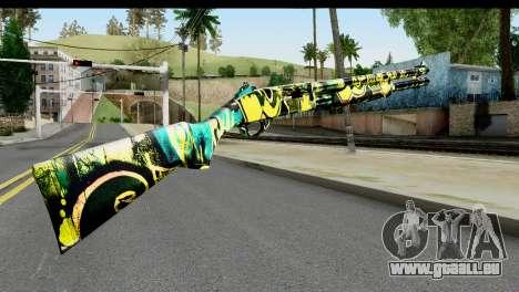 Grafiti Shotgun pour GTA San Andreas deuxième écran