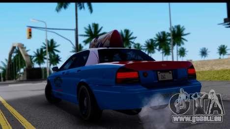 Taxi Vapid Stanier II from GTA 4 pour GTA San Andreas laissé vue
