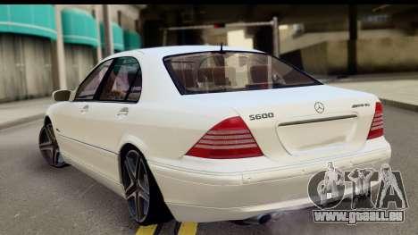 Mercedes-Benz S600 AMG für GTA San Andreas linke Ansicht