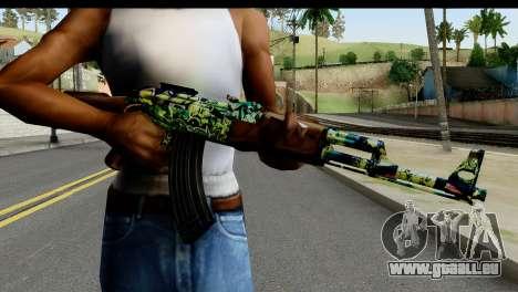 Grafiti AK47 für GTA San Andreas dritten Screenshot