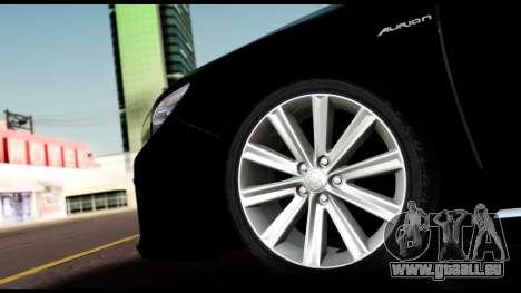 Toyota Camry 2013 pour GTA San Andreas vue arrière