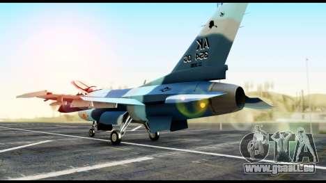 F-16 Aggressor Alaska für GTA San Andreas linke Ansicht