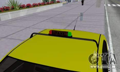 Dacia Logan Taxi für GTA San Andreas Räder