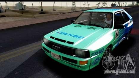 Audi Sport Quattro B2 (Typ 85Q) 1983 [HQLM] für GTA San Andreas Seitenansicht