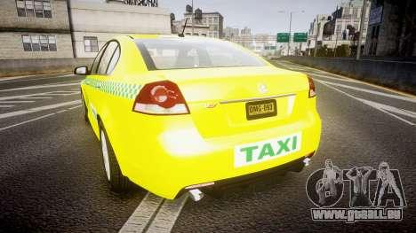 Holden Commodore Omega Series II Taxi v3.0 für GTA 4 hinten links Ansicht