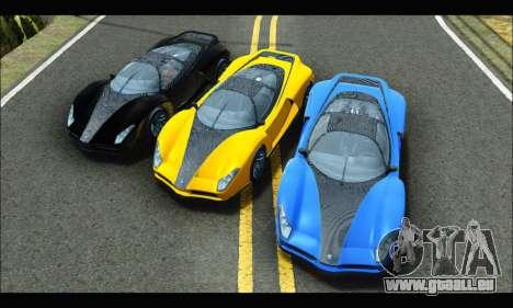 Grotti Cheetah v3 (GTA V) (IVF) pour GTA San Andreas vue arrière