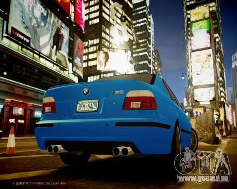 BMW M5 E39 pour GTA 4 Vue arrière de la gauche