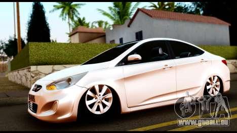 Hyundai Accent Blue für GTA San Andreas