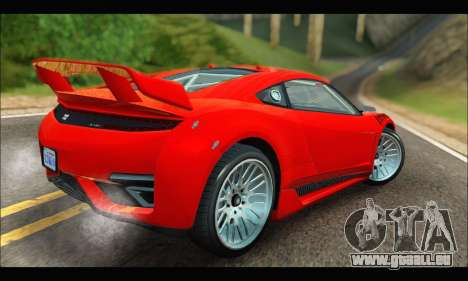 Dinka Jester Racecar (GTA V) (IVF) pour GTA San Andreas vue de droite