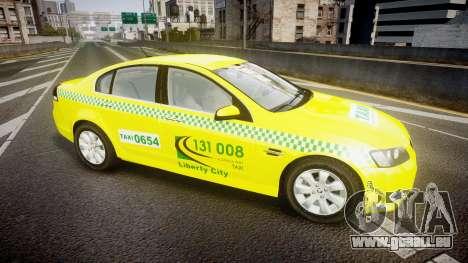 Holden Commodore Omega Series II Taxi v3.0 für GTA 4 linke Ansicht