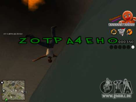 C-HUD Cookie pour GTA San Andreas quatrième écran