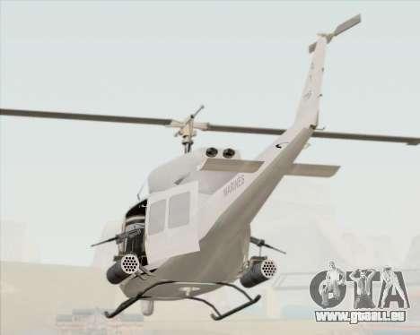 Bell UH-1N Huey USMC für GTA San Andreas Seitenansicht