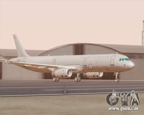 Airbus A321-200 Royal New Zealand Air Force für GTA San Andreas linke Ansicht