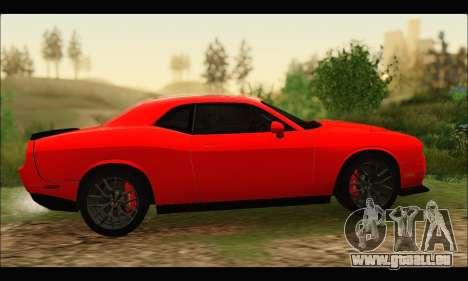 Dodge Challenger SRT HELLCAT 2015 für GTA San Andreas rechten Ansicht