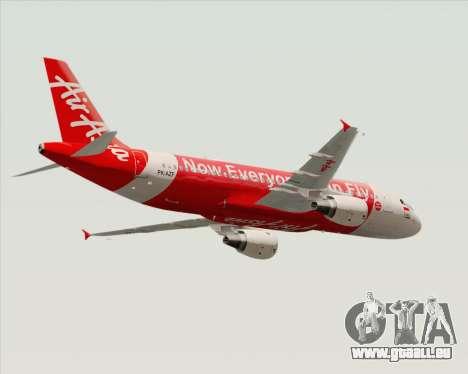 Airbus A320-200 Indonesia AirAsia pour GTA San Andreas vue de droite
