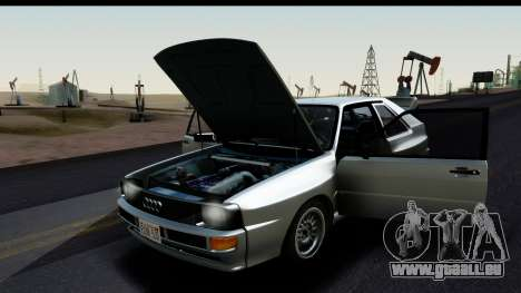 Audi Sport Quattro B2 (Typ 85Q) 1983 [HQLM] für GTA San Andreas rechten Ansicht